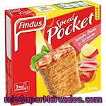 Speed Pocket Jamón, Queso Y Tomate Findus Pack 2x125 G.